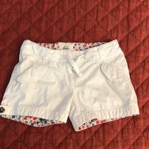 White mini Boden shorts